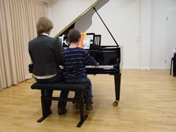 Klaviervorspiel im großen Saal